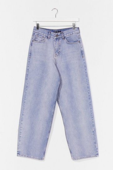 Vintage blue Always By Your Side Wide-Leg Jeans