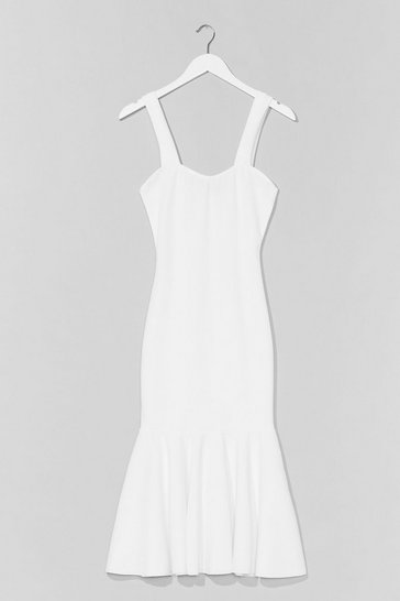 White Pep in Your Step Sweetheart Maxi Dress