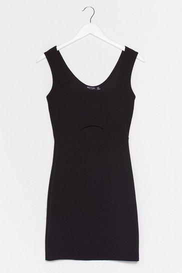 Black Hole in Your Logic Cut-Out Mini Dress