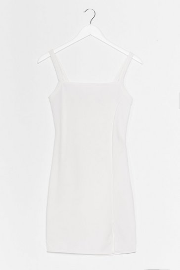 White Slits That Easy Mini Dress