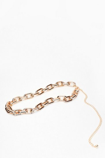 Gold Chunk It Up Chain Belt