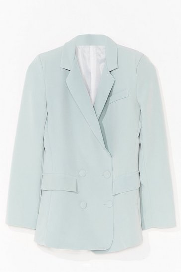 Mint Home Office Double Breasted Tailored Blazer