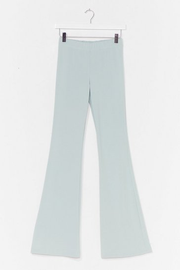Mint Flare for You High-Waisted Trousers