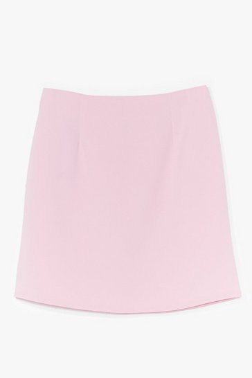 Pink High Waisted A Line Mini Skirt