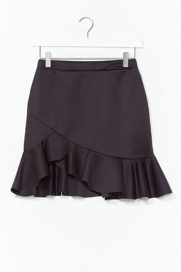 Black Ruffle and Ready Mini Skirt