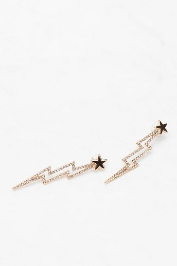 Gold Star Lightening Earrings