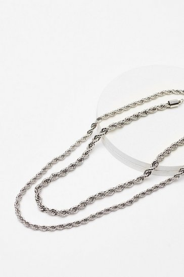 Silver Chain-ge for the Better Rope Necklace