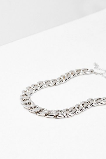 Silver It's Chain to See Chunky Necklace
