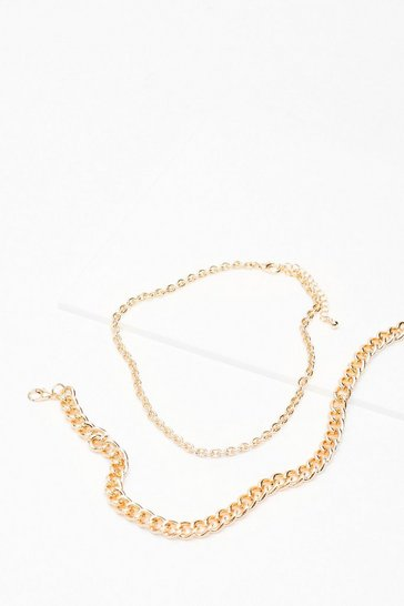 Gold The Ultimate Go Two Layered Chain Necklace