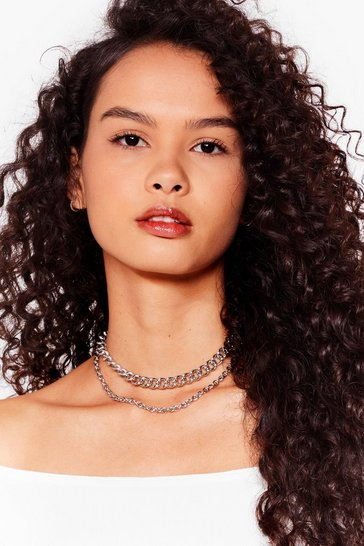 Silver The Ultimate Go Two Layered Chain Necklace