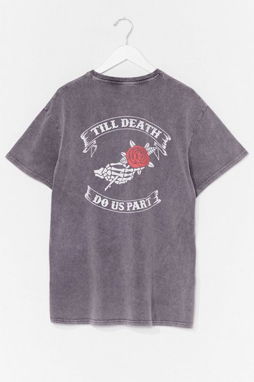 Charcoal Plus Size 'Til Death Do Us Part Graphic T-Shirt