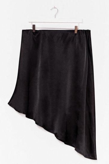 Black Sleek in Sleek Out Jacquard Plus Midi Skirt