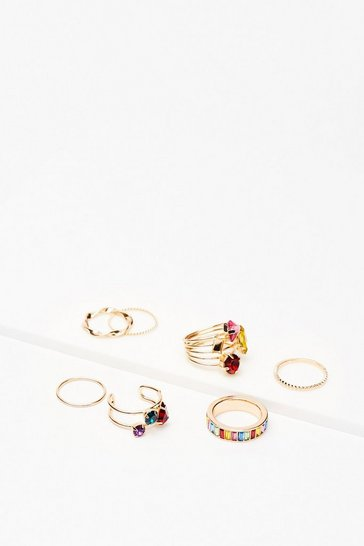 Gold Stone You the Way 7-Pc Ring Set