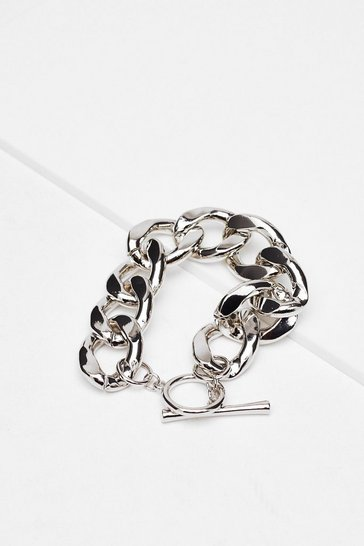 Silver In Chain Sight Chunky Bracelet
