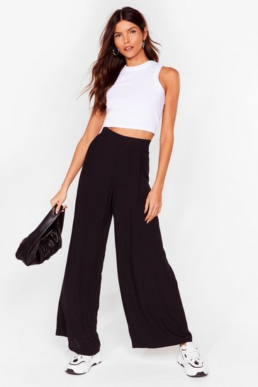 Black Arms Wide Open High-Waisted Pants