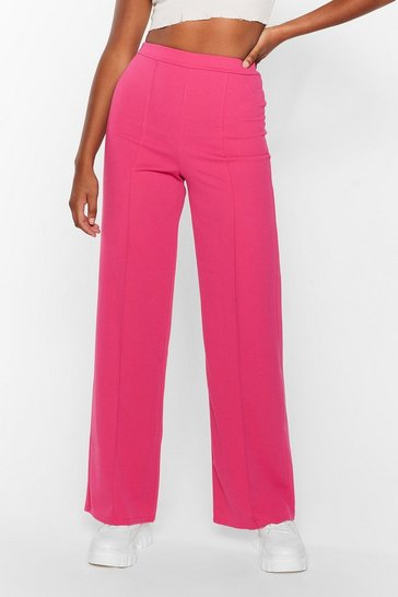 Hot pink Seam You Lookin' High-Waisted Wide-Leg Pants
