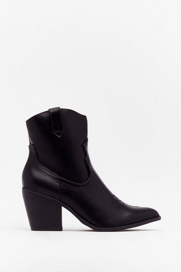 Black West Time Ever Faux Leather Ankle Boots