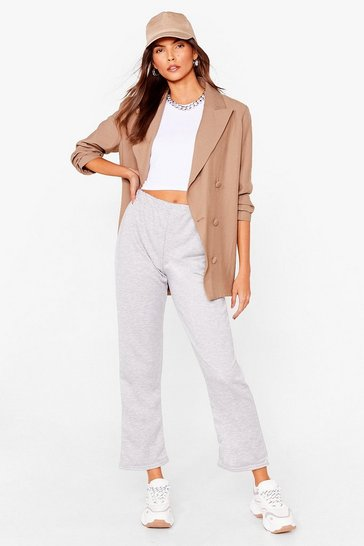 Grey Racer Me to Bed Crop Top and Jogger Set