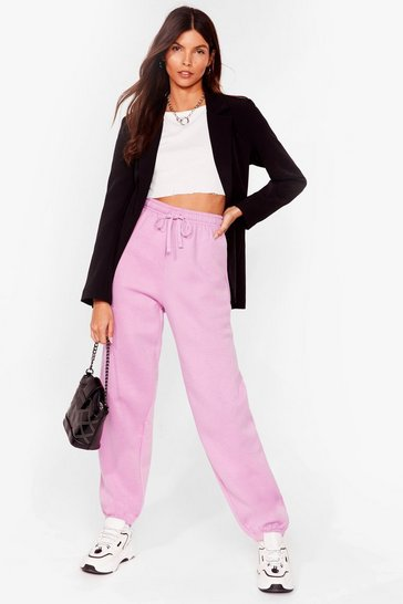 Lilac Who Run the World Relaxed High-Waisted Joggers