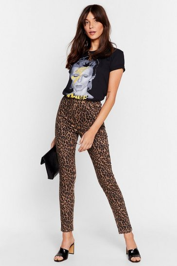 Stone We Know Meow to Party Leopard Skinny Jeans