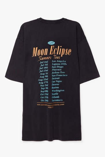 Grey Moon Eclipse Summer Tour Graphic Tee Dress
