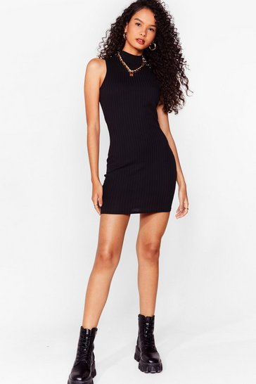 Black Sleeve Me Be Recycled Mini Dress
