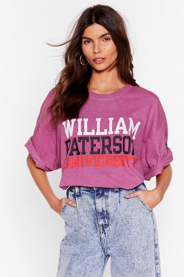 Pink Nasty Gal Vintage More is More Oversized Tee