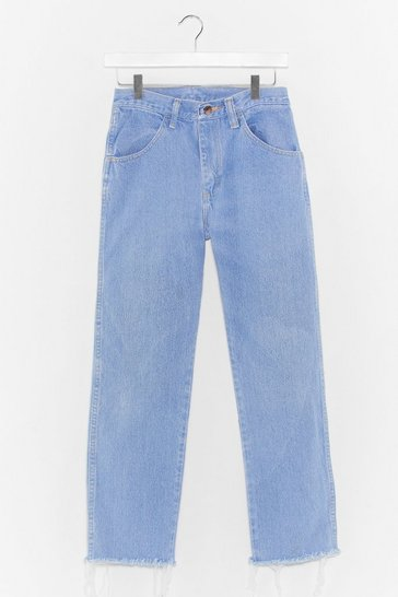 Blue Nasty Gal Vintage Wash You Dance Distressed Mom Jeans
