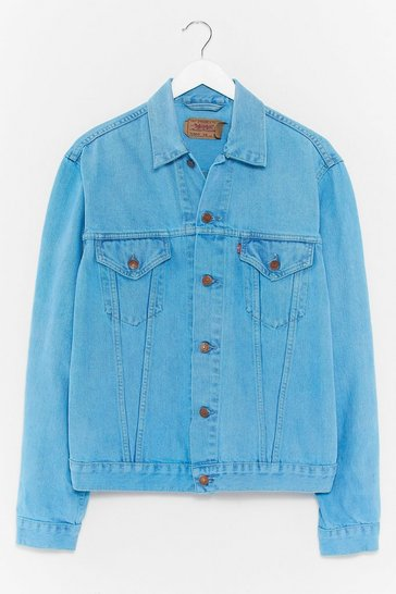 Teal Nasty Gal Vintage Bleached Denim Jacket