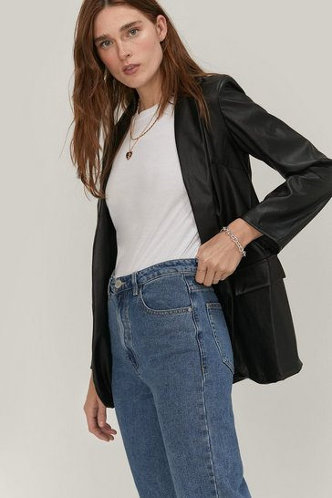 Blue Don't Forget To Say High Waisted Mom Jeans