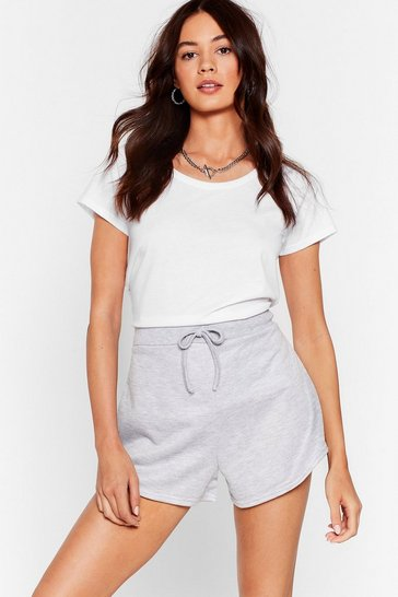 Grey marl Run the World High-Waisted Runner Shorts