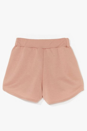 Stone Run For It High-Waisted Runner Shorts