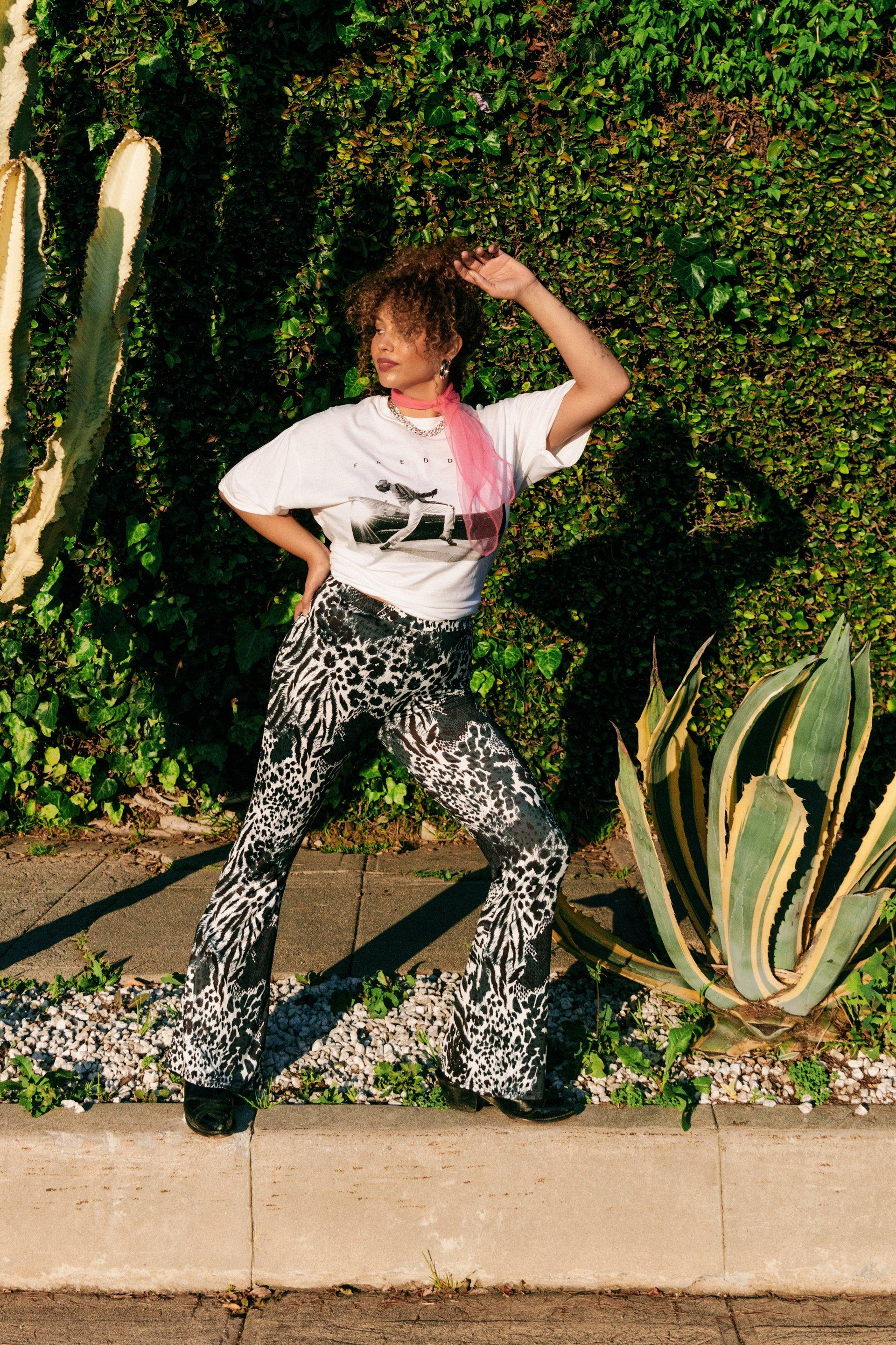 Wild Wild World Plus Animal Flare Pants 7