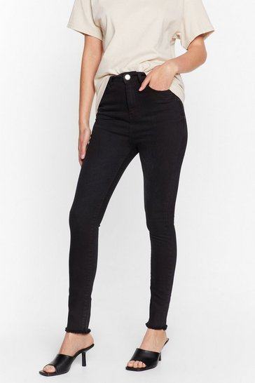 Black We Raw It First High-Waisted Skinny Jeans