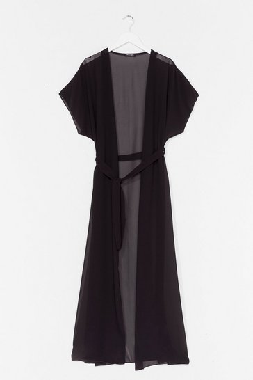 Black A Little Over the Top Plus Maxi Cover-Up Jacket