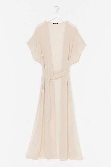 Stone A Little Over the Top Maxi Cover-Up Jacket