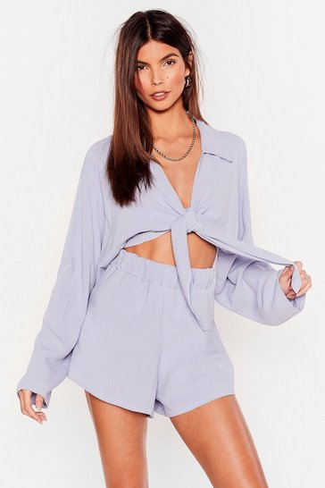 Pale blue Somewhere On a Beach Cover-Up Shorts