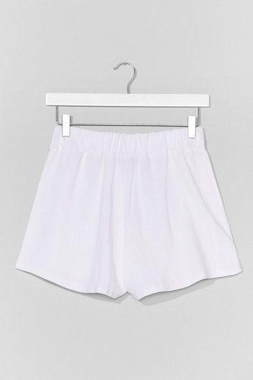 White Beach to Their Own High-Waisted Cover-Up Shorts