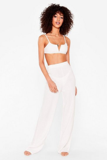 White Beach to Their Own Cover-Up Wide-Leg Pants