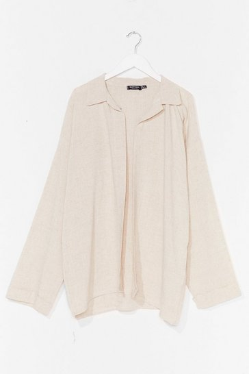 Stone It's the Look Oversized Cover-Up Shirt