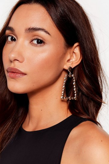 Gold Don't Come Knocking Textured Drop Earrings