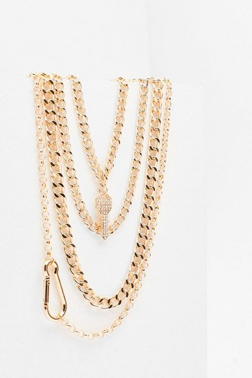 Gold Key to My Place Chunky Chain Necklace