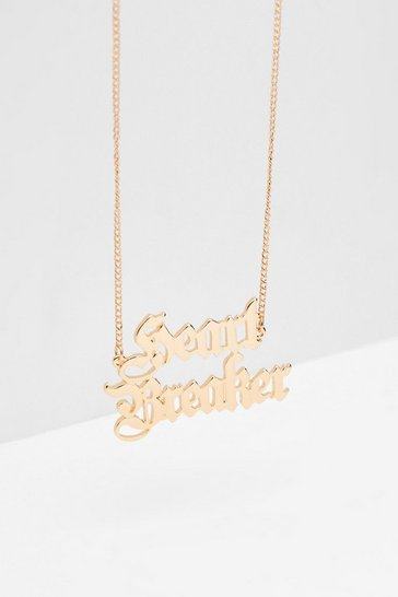 Gold I'm a Heartbreaker Pendant Necklace
