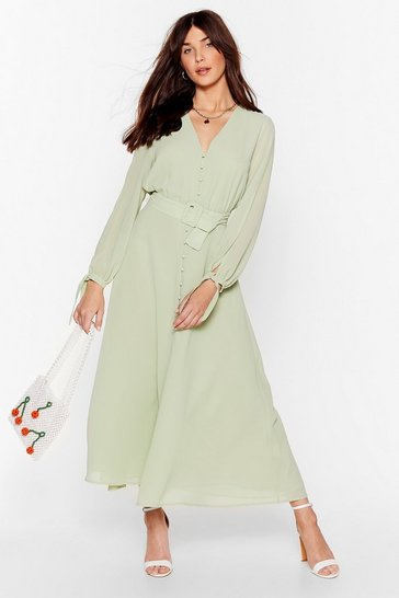 Sage Slit's Gotta Be You Belted Maxi Dress