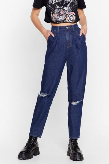 Indigo Wash Love Got to Do With It Tapered Jeans