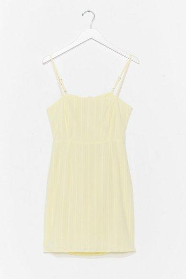 Lemon How Did You Bow Mini Dress