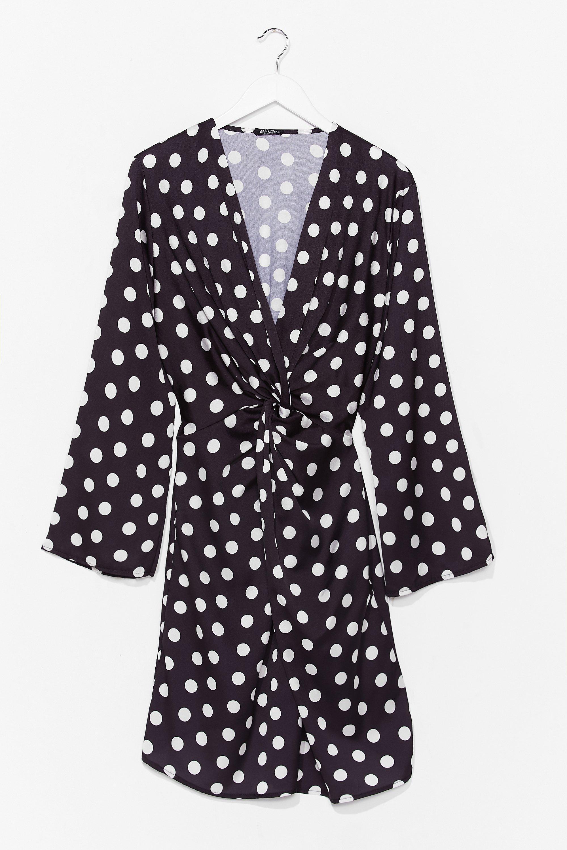 Twist It Plus Polka Dot Mini Dress 8