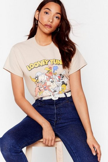 Natural Looney Tunes Graphic Tee