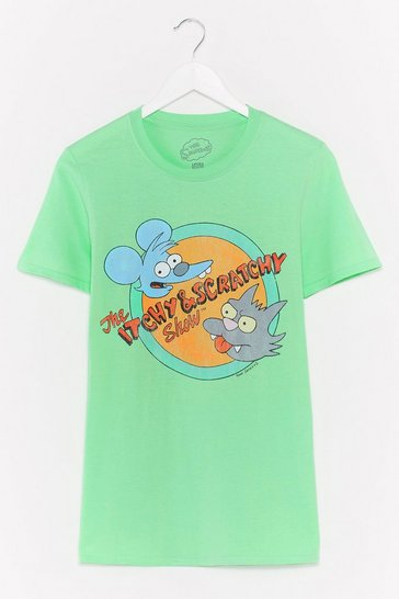 Mint The Itchy and Scratchy Show Graphic Tee