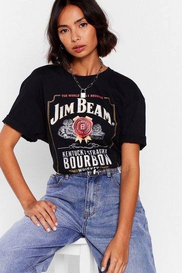 Black On the Rocks Jim Beam Graphic Tee